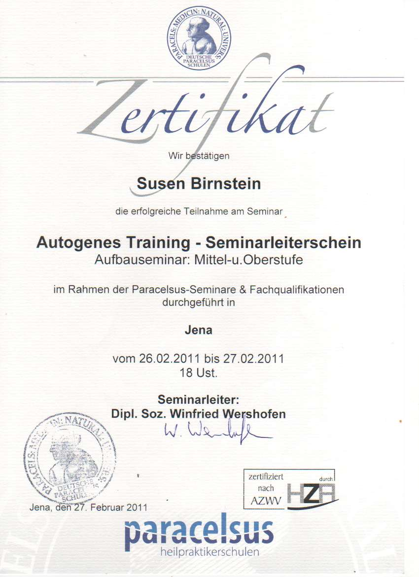 03 Aufbauseminar Autogenes Training